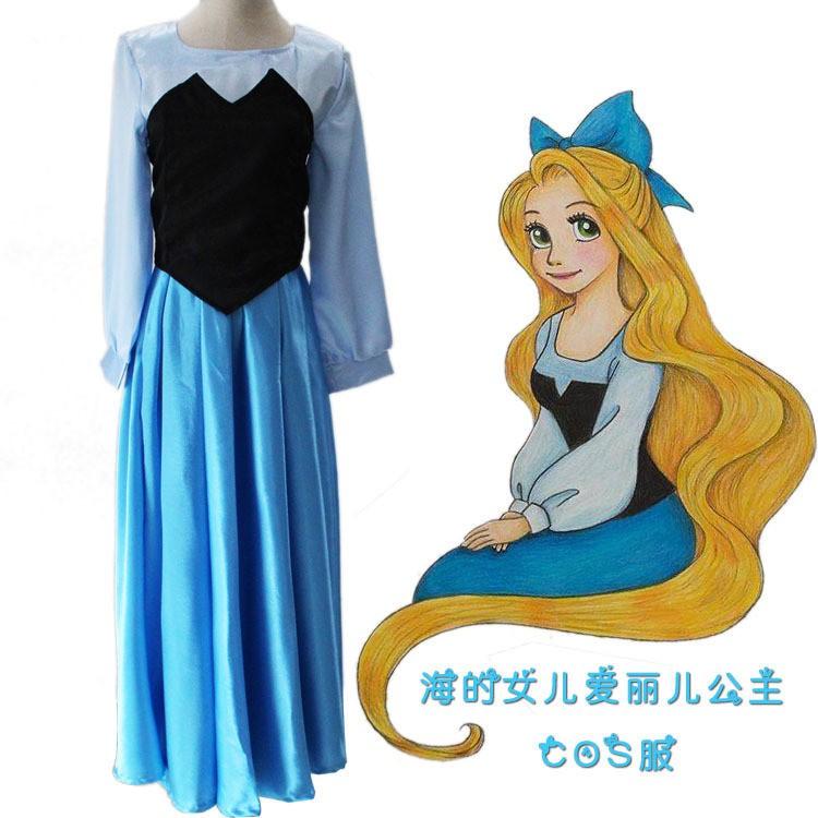 熱賣爆款 小美人魚 愛麗兒公主cosplay服裝 小美人魚公主裙