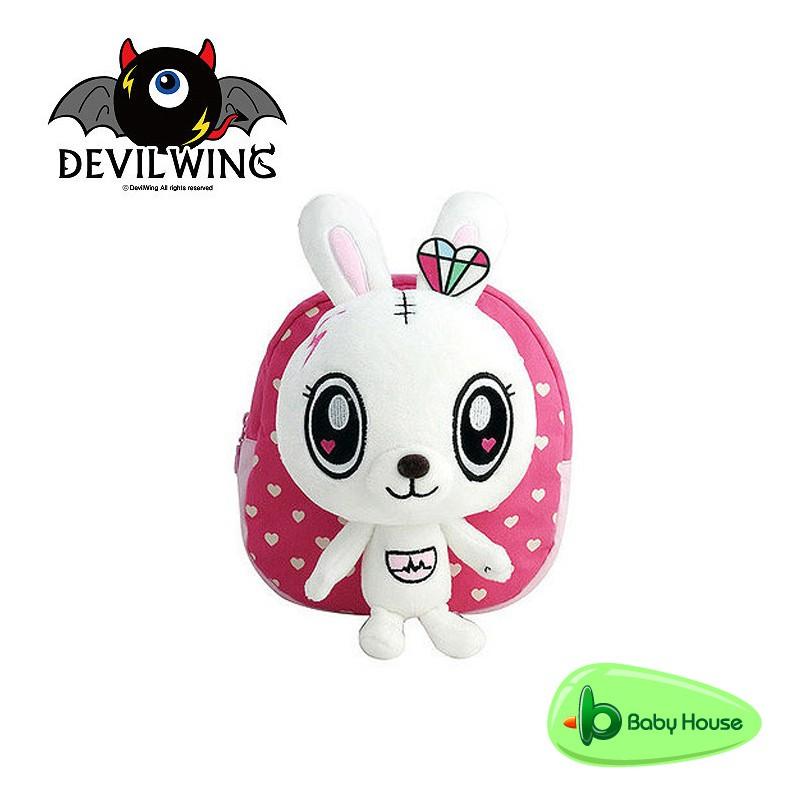 Devil Wing 小惡魔蕾娜兔幼兒防走失背包、書包(白兔) Baby House 官方商城