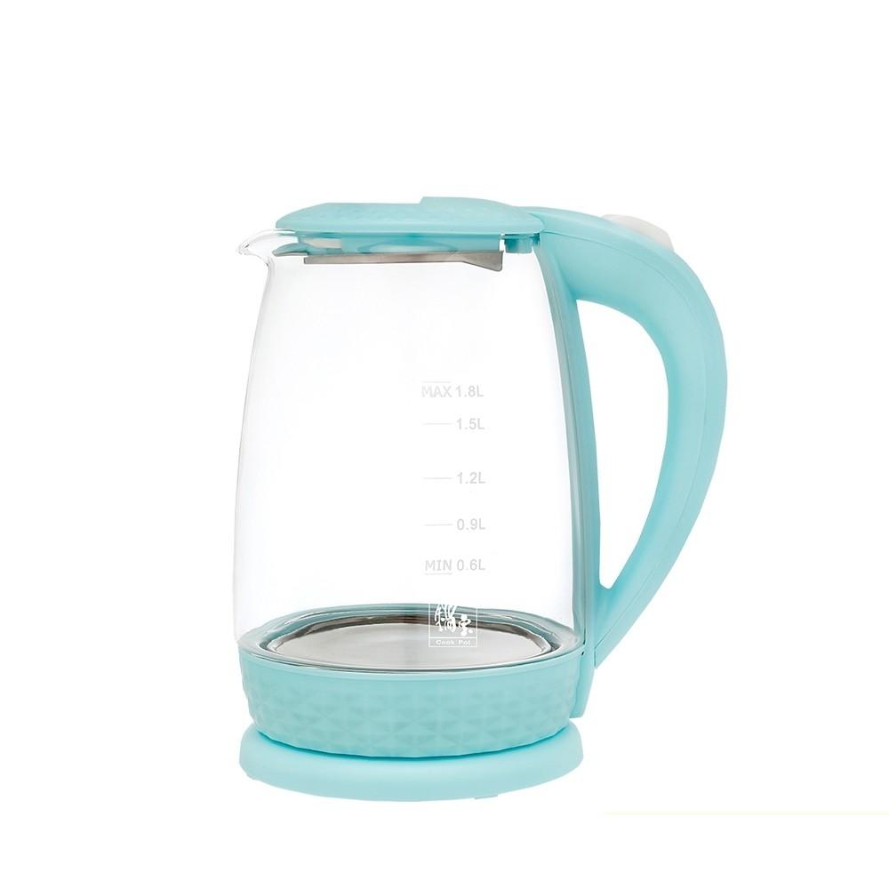 【鍋寶】玻璃快煮壺1.8L-藍 KT-1820B