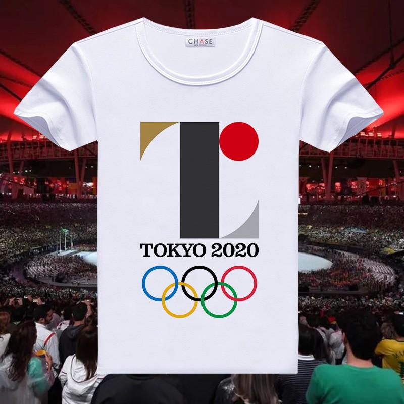 東京奧運會限量  紀念品 周邊 2020東京奧運會LOGO衣服男女學生吉祥物標誌T恤 24H速發