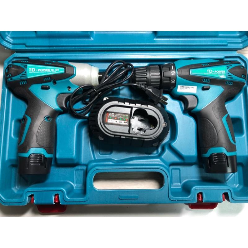 TD 12V雙機組 TD-108D充電式雙速起子機+TD-128充電式沖擊起子機  英得麗 12V雙機組 單機組