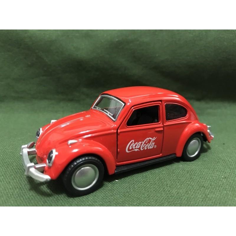 {老派風華}可口可樂金龜車 雙門可開 模型車 玩具車