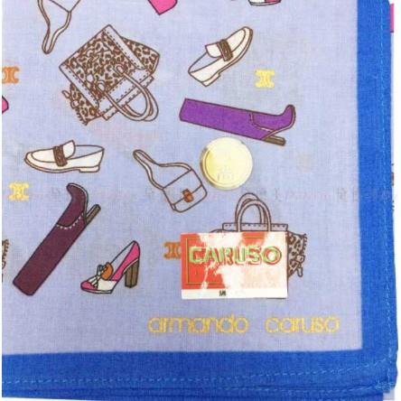 日本製 armando caruso 包包 鞋子 小方巾 領巾 優雅 純棉 親膚 日本手帕