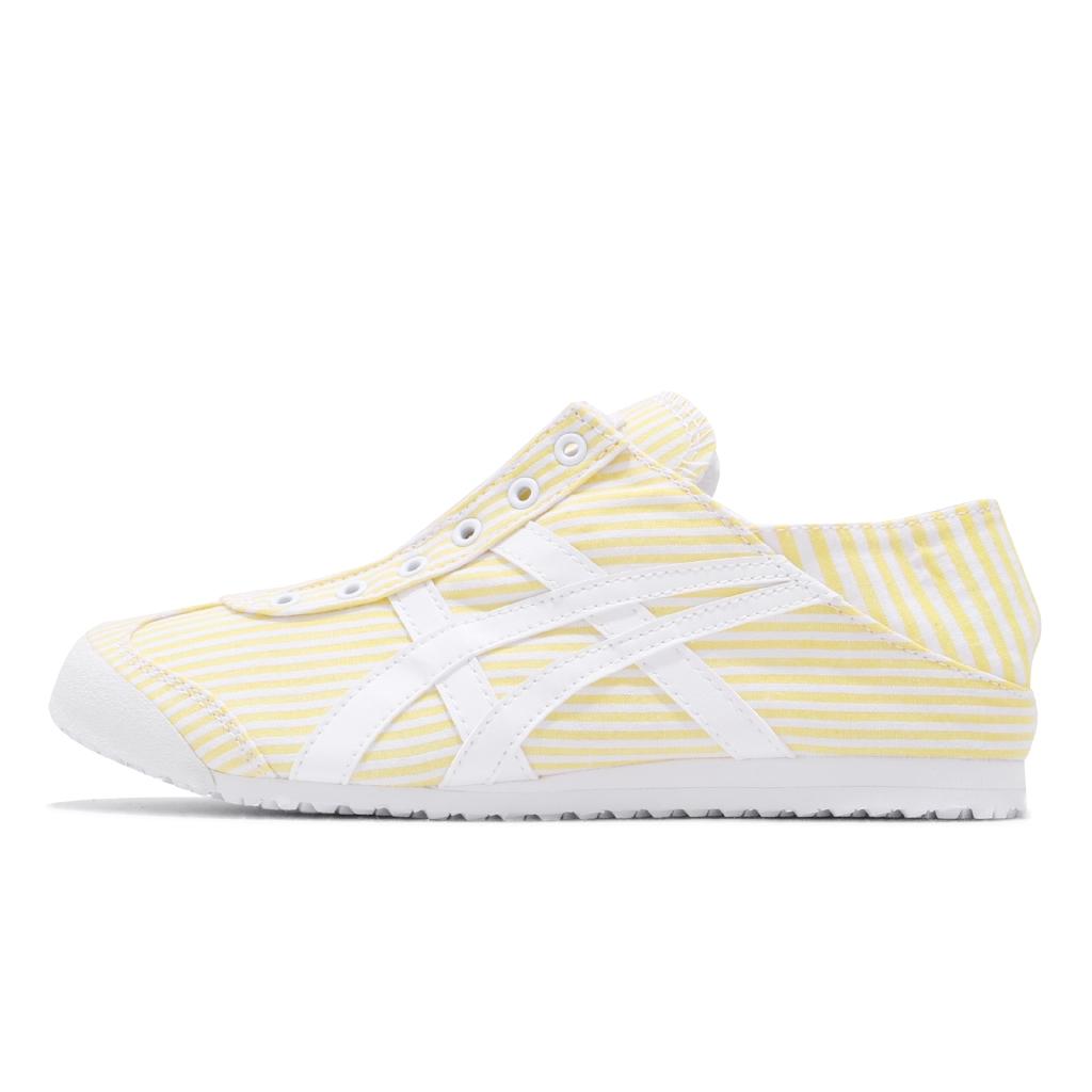 【ACS現貨】 Onitsuka Tiger 休閒鞋 Mexico 66 Paraty 黃 白 條紋 可腳踩 男女鞋
