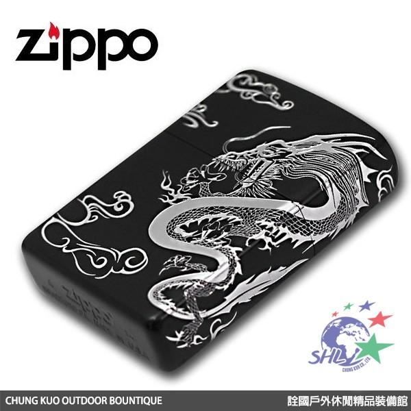Zippo 日系經典打火機 - 浮雲銀龍 雙面跨面圖紋設計 - 2DRG-B 【詮國】