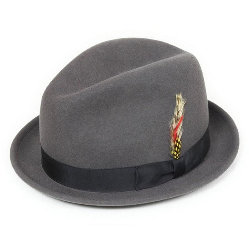 美國 NEW YORK HAT - STINGY FEDORA 三凹短簷紳士帽 - 灰色