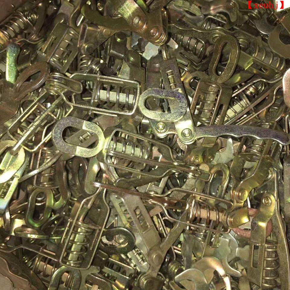 貨車皮卡電動摩托三輪加厚車廂彈簧手扣箱貨門把手掛鉤欄板扣搭鉤【xeuhj】