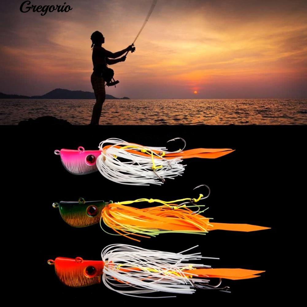 🍀酷派戶外🍀海釣魚餌炎月鐵板路亞 假餌 45g、65g,85g鬍鬚佬章魚魷魚鉛頭鉤