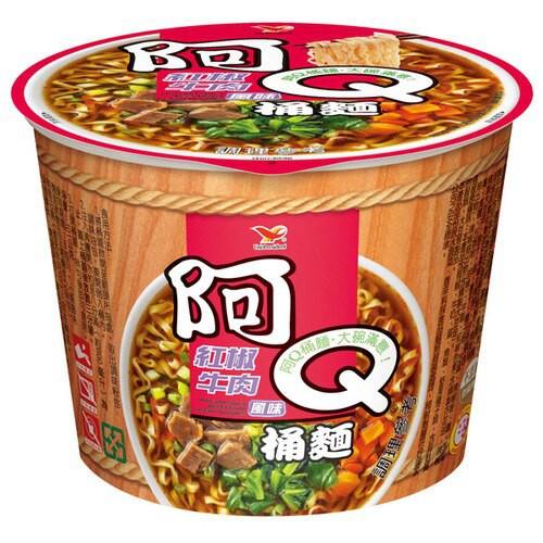 阿Q桶麵 紅椒牛肉風味 101g (12入)/箱 【康鄰超市】