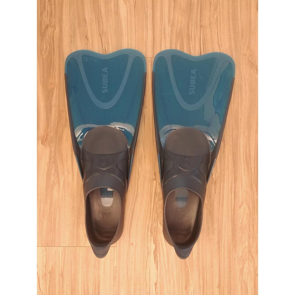 迪卡儂 SUBEA 成人穿戴舒適 浮潛 蛙鞋 穿戴型 EU42/43-US8.5/9