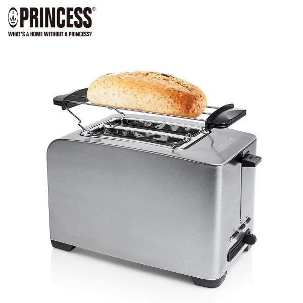PRINCESS 荷蘭公主 不鏽鋼多功能厚片烤麵包機 (可烤厚薄片、麵包、培果) 142356