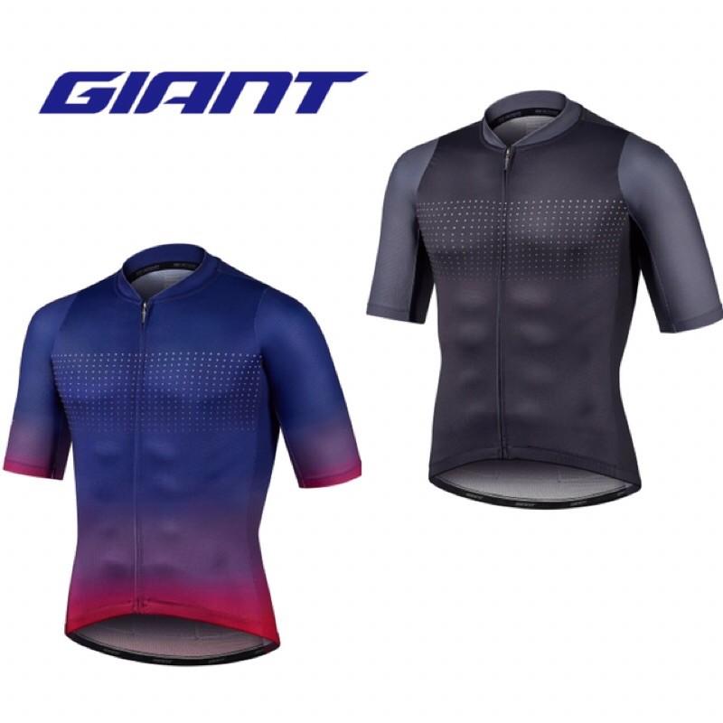 拜客先生-【GIANT】預購款 捷安特2021新品 PODIUM 短袖車衣 藍寶石漸層/深灰漸層