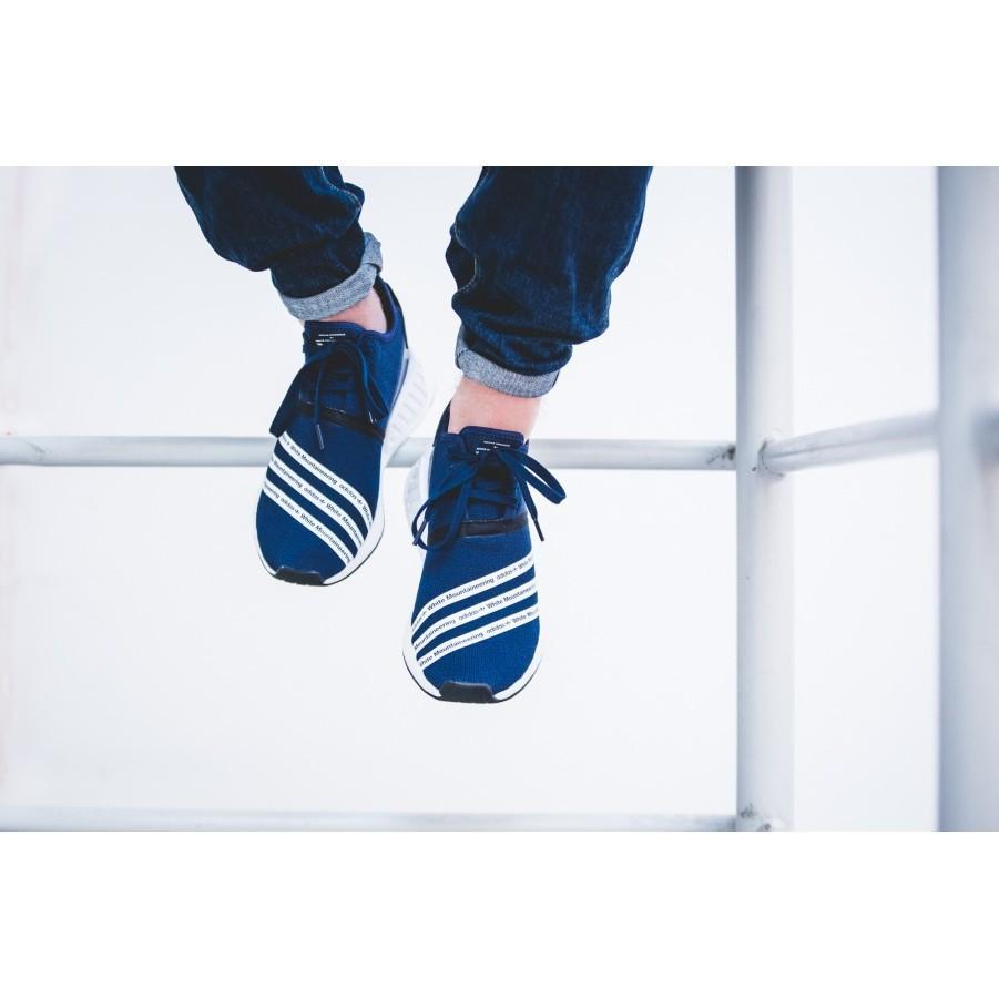 正品 Adidas NMD R2 BOOST 海軍藍 反光 針織 限定 日本 白山 聯名款 男女 BB3072