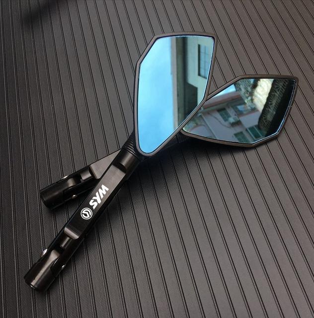 適用 三陽 DRG FNX JETS VEGA 活力125 Z1改裝鋁合金後視鏡電機桿端鏡 後視鏡 摩托車側鏡後照鏡