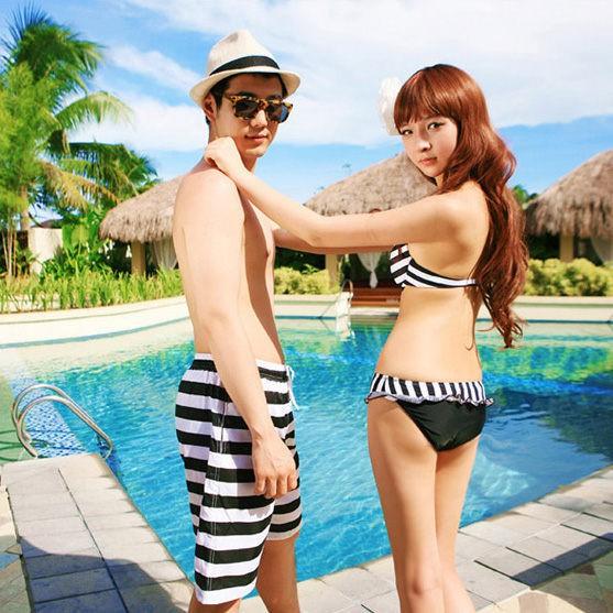 自由時報推薦 黑白條紋 鋼圈比基尼 泳衣裝 另有男生賣場 兩件式 橘魔法 現貨在台灣【p0061141699018】