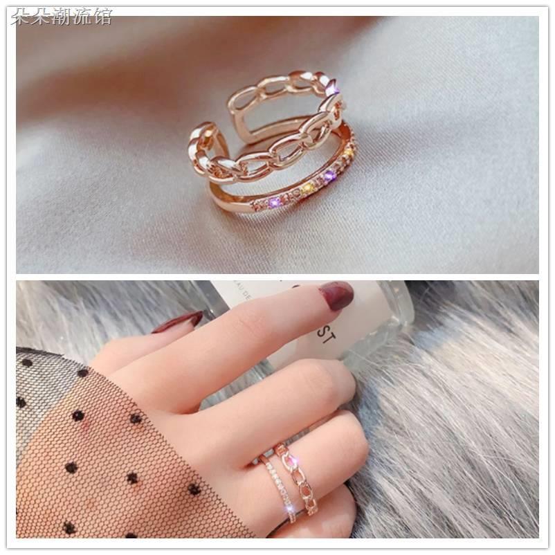 ☋❂【超值價】玫瑰金戒指 細戒 尾戒 開口戒可調節 轉運戒指 情侶戒指 指環 潮人必備生日禮物A1991