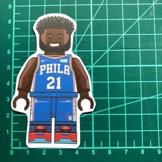 防水貼紙-Joel Embiid #NBA-LEGO #76人