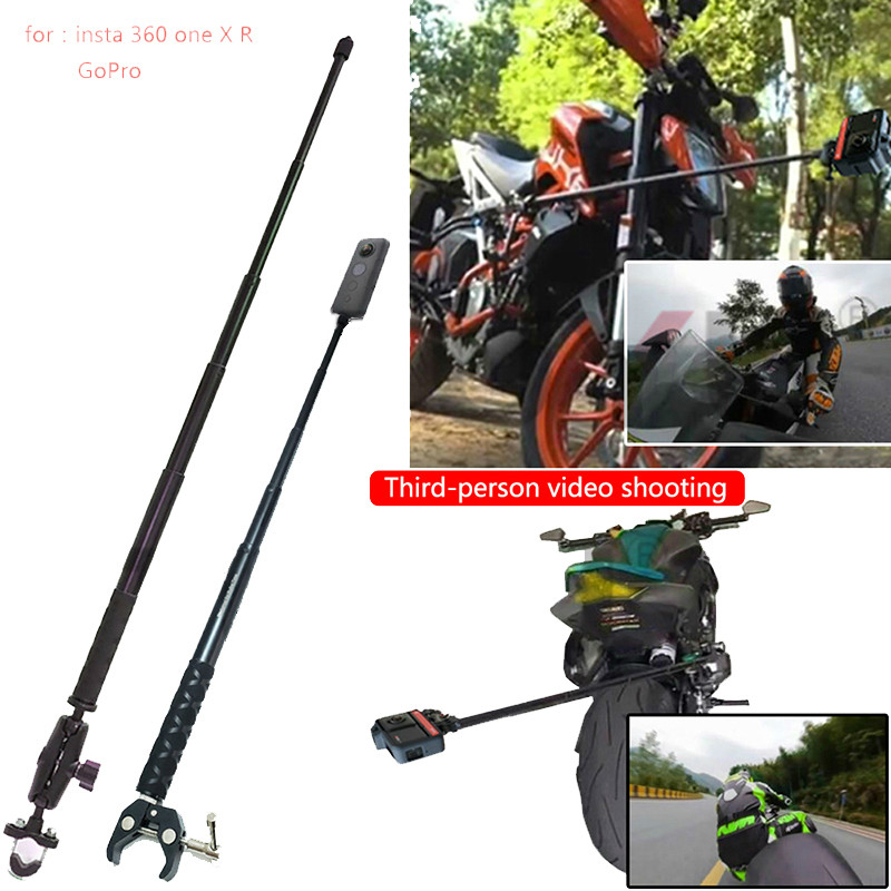 Gopro Hero 9 摩托車自行車運動相機支架車把後視鏡安裝支架, 用於 Insta360 One R X Go P