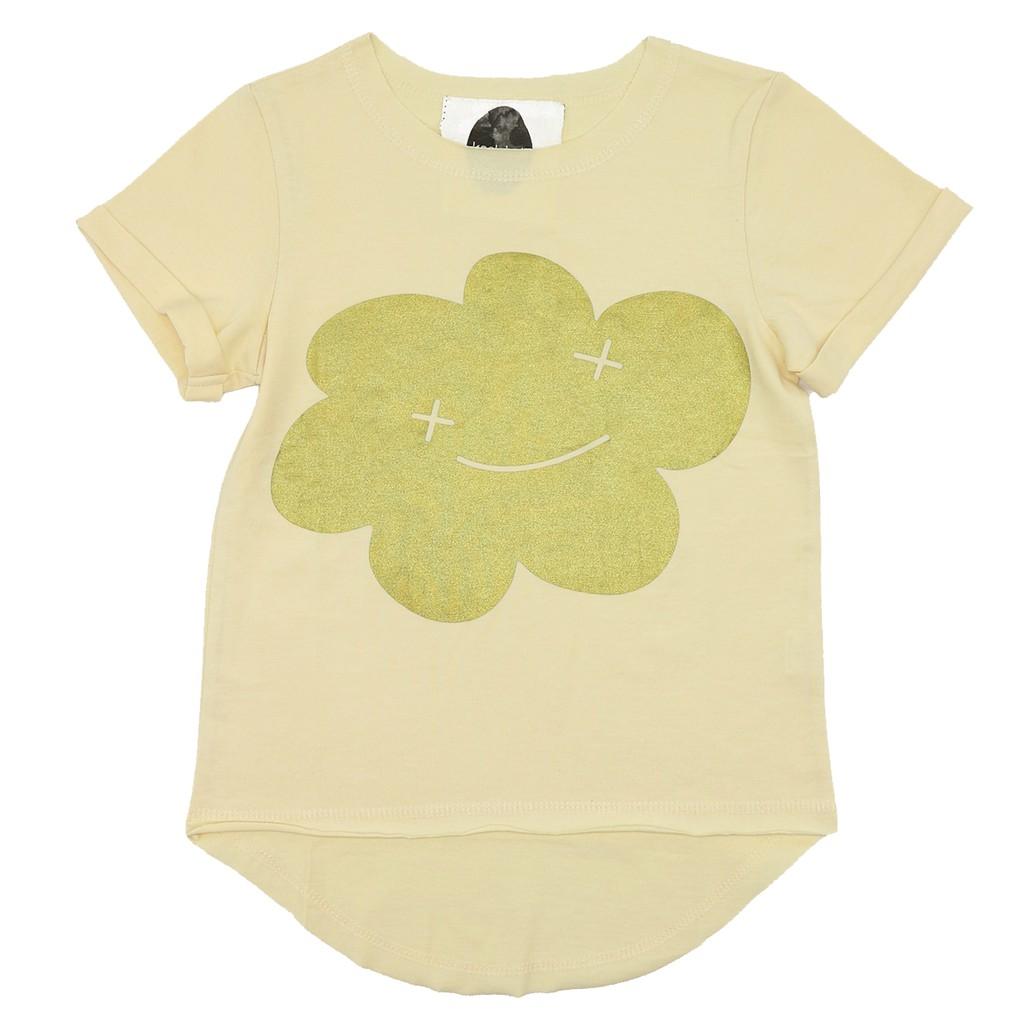 瑞典 Koolabah 黃色微笑金雲短袖上衣|5-6歲