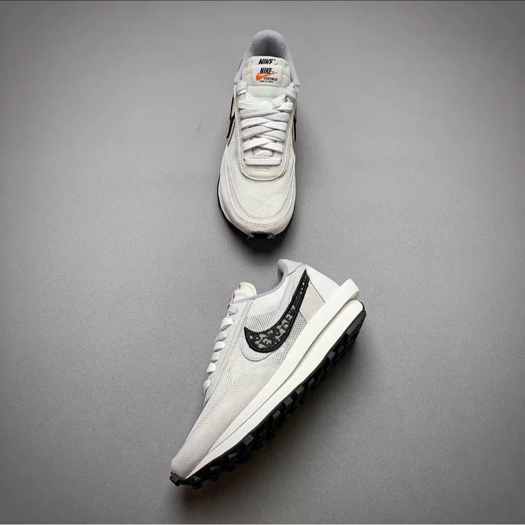 Nike x Sacai x Dior 聯名 20新款 獨家首發 白灰 雙溝設計 現貨+預購