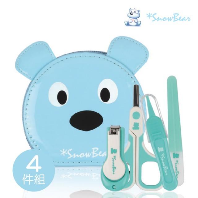 朴蜜兒 Pomier snowbear 雪花熊3+1幼兒專用指甲剪套組(幼兒剪指甲必備套組)