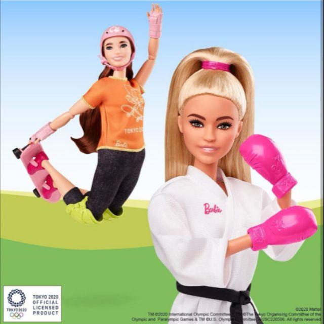 現貨新款 2020 美泰兒 日本東京奧運 職業 運動 滑板 芭比娃娃《 Barbie Olympic Games 》