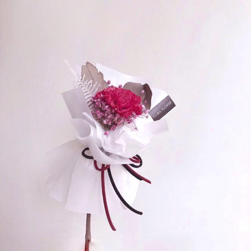 floraflower一支康乃馨乾燥花(紅)