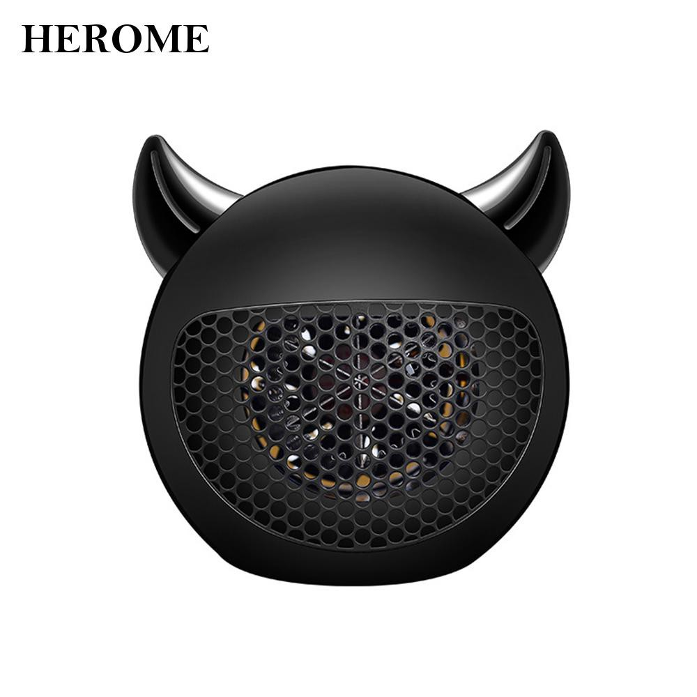 herome小惡魔迷你暖風機400W-黑色  新