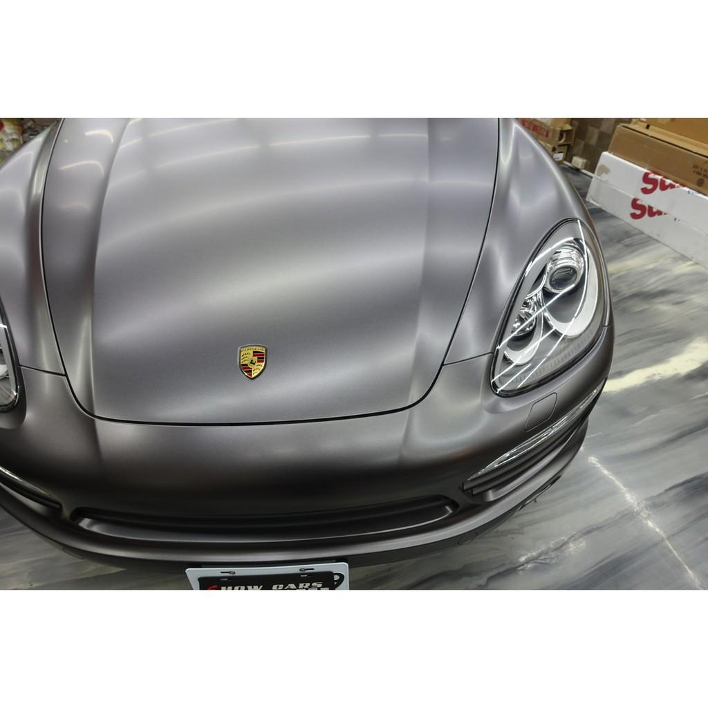 PORSCHE CAYENNE 958 全車改色貼膜 3M 1080 S261 絲綢灰  全車包膜 全車貼膜 全車改色