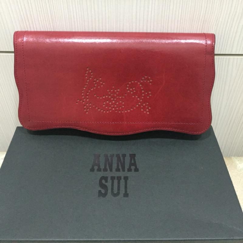 ANNA SUI紅色長夾~~~