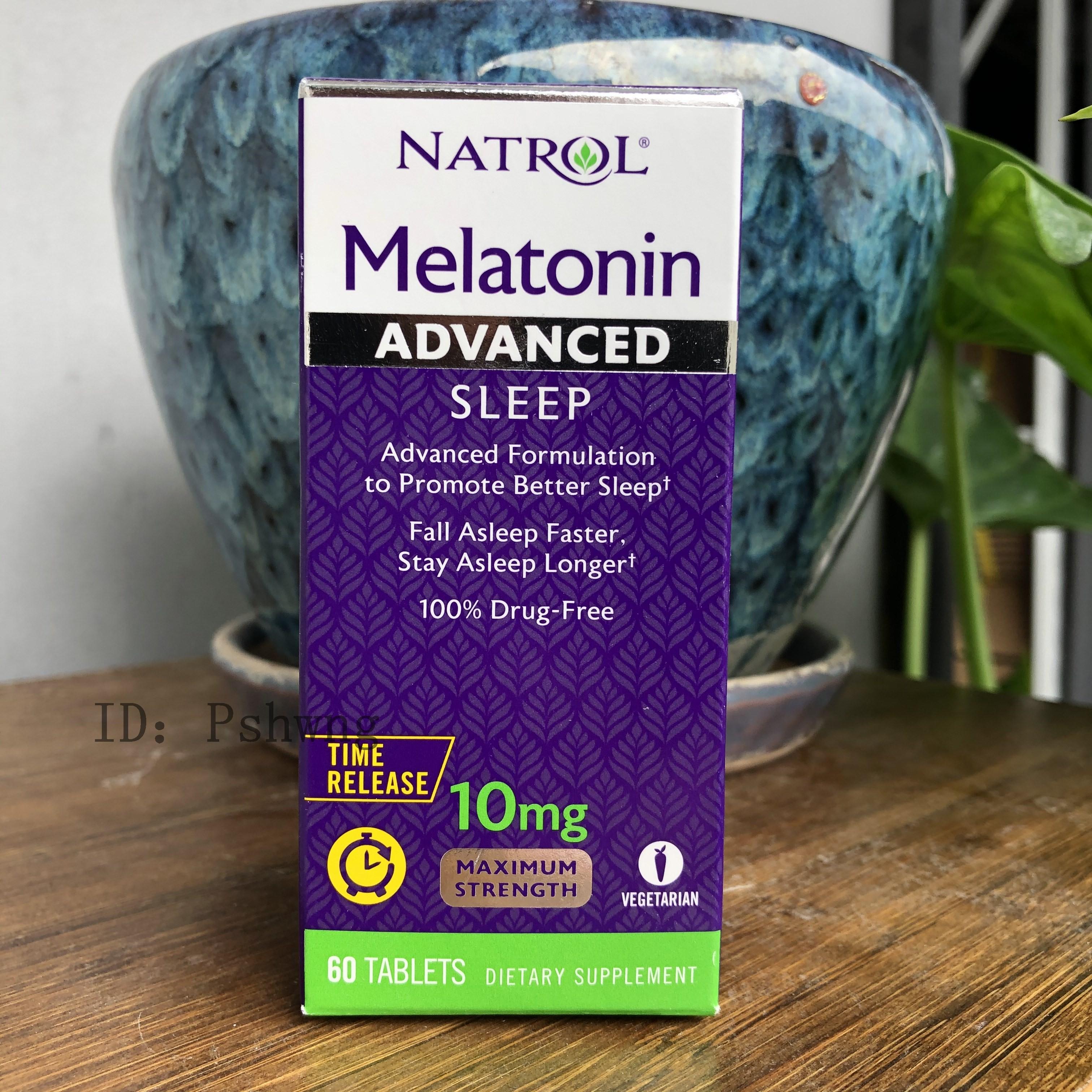 美國Natrol Melatonin  改善睡眠 B6鈣 10mg 60片