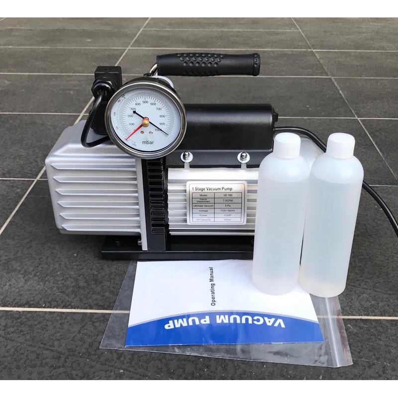 (電磁閥+逆止閥+真空錶)飛越VALUE VE-160SV油式真空幫浦/真空馬達(1/2HP)-灌冷媒抽真空機、真空脫泡