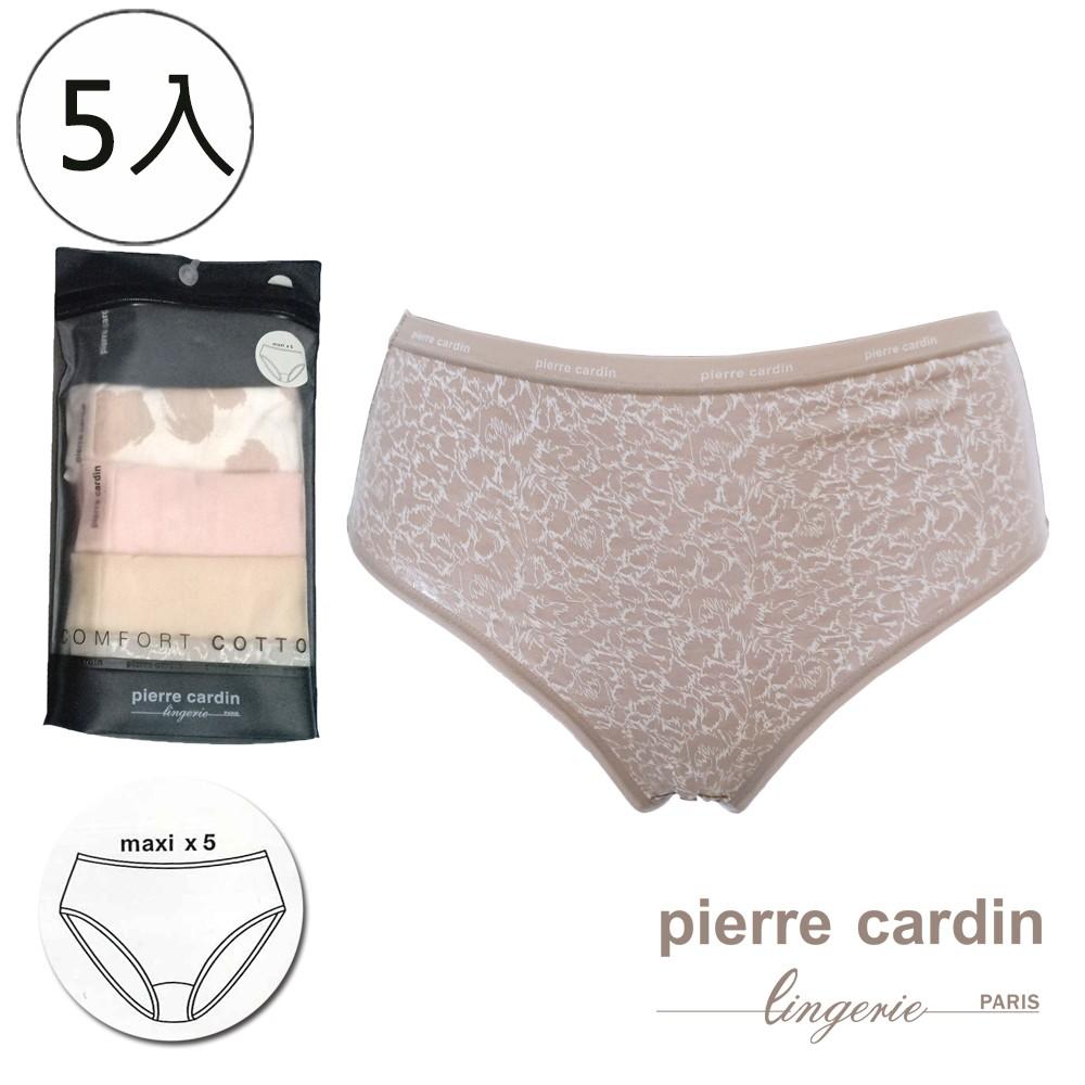 【皮爾卡登】女內褲 棉質中腰三角小褲 便利包-5件組