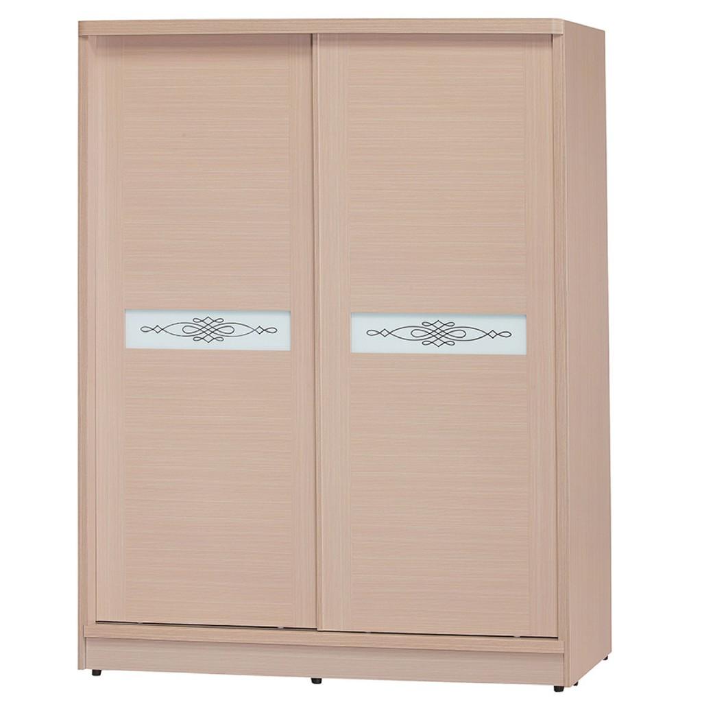 【152cm衣櫃-K19-754】木心板 推門滑門開門 衣服收納 免組裝 【金滿屋】