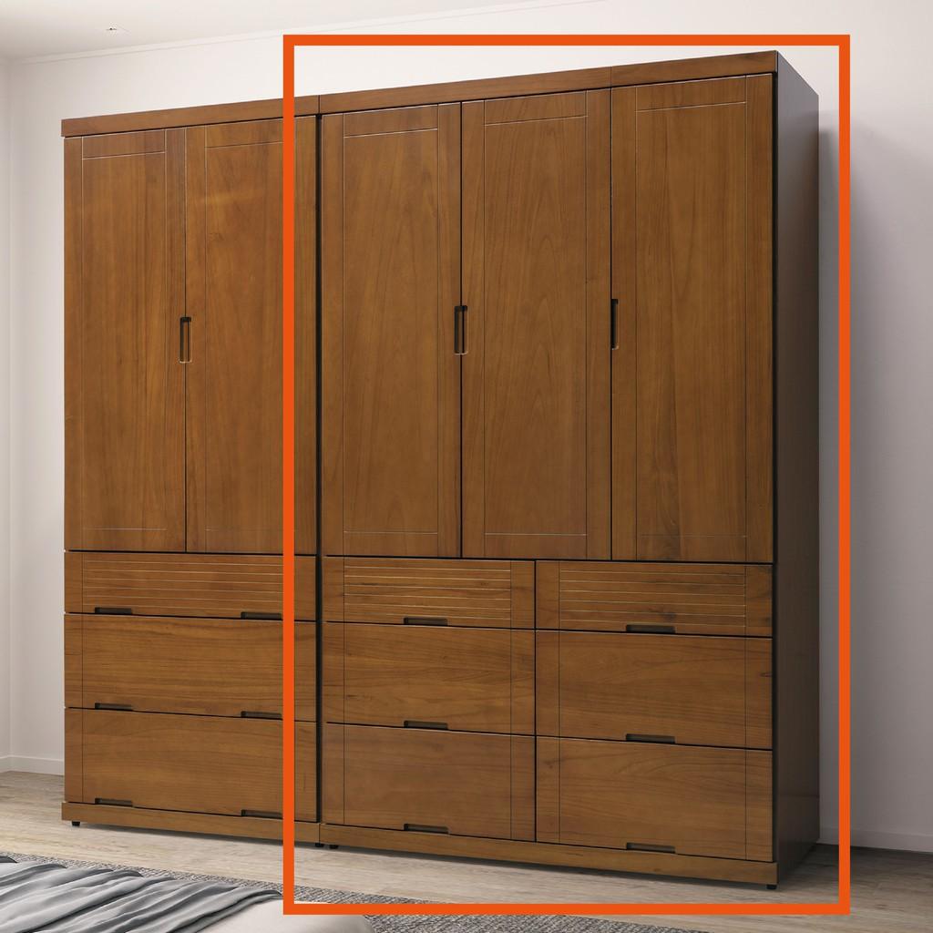 【119cm衣櫃-B160-03】木心板 推門滑門開門 衣服收納 免組裝【金滿屋】