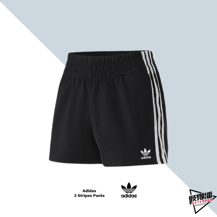 ADIDAS ORIGINALS 3 TRIPES SHORTS 真理褲 三葉草 黑白 CY4763【彼得潘】