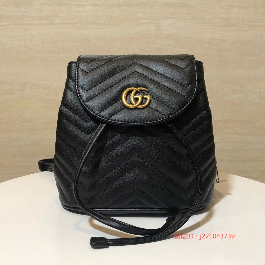 Diana二手 古馳 Gucci GG Marmont 雙肩包 後背包