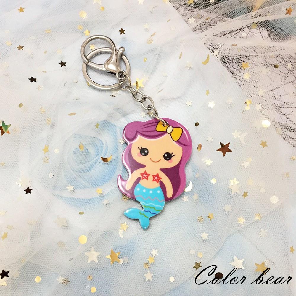 【卡樂熊】可愛卡通美人魚造型鑰匙圈-美人魚