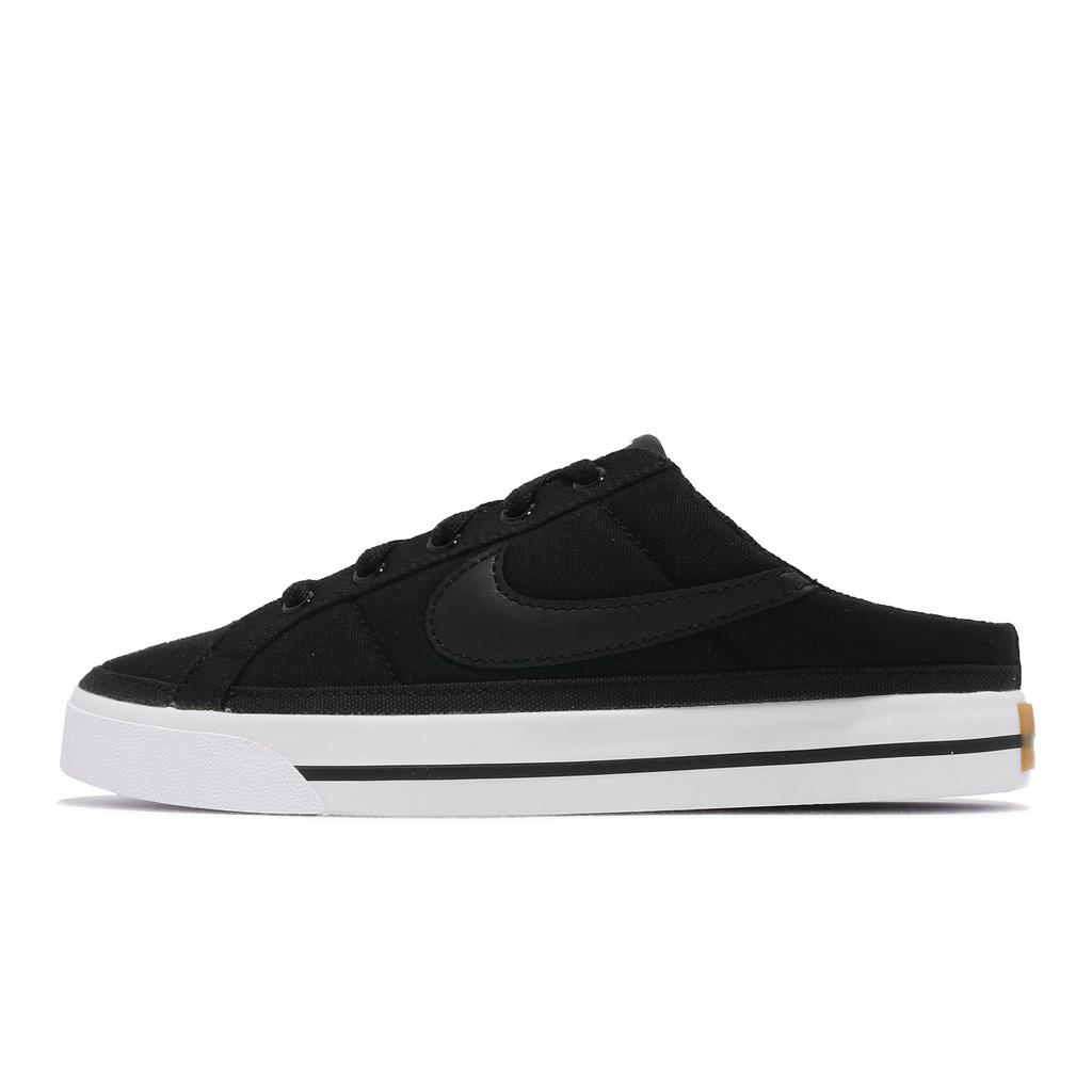 Nike 穆勒鞋 Wmns Court Legacy Mule 黑白 女鞋 拖鞋 懶人鞋【ACS】 DB3970-001
