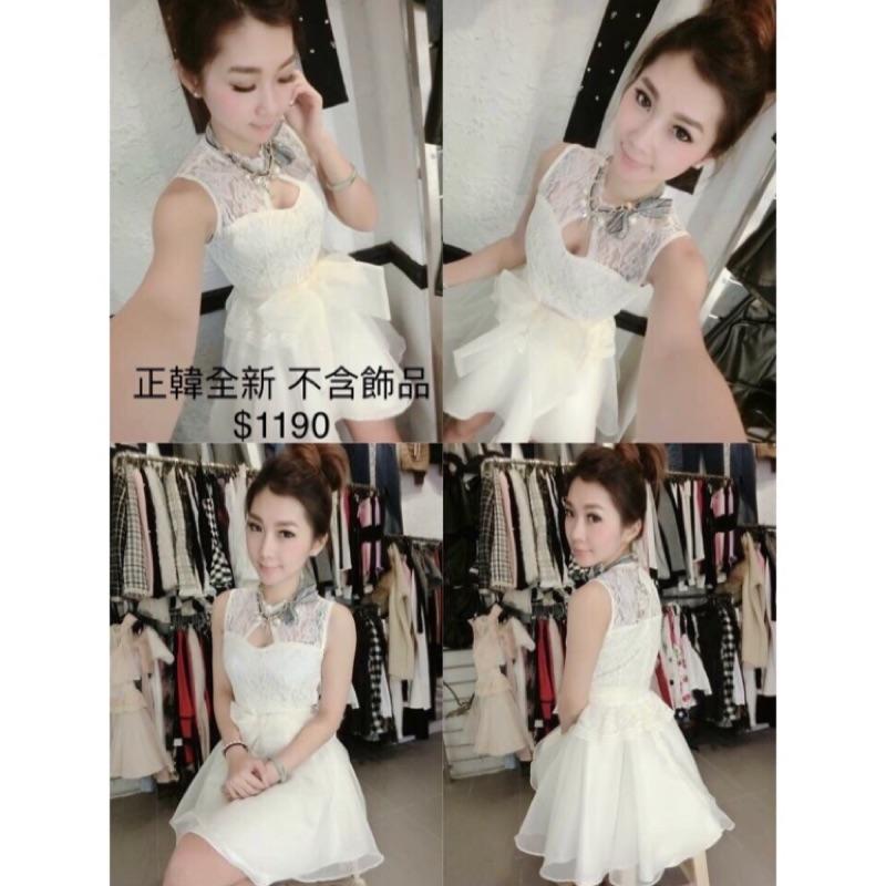白色蕾絲低調性感洋裝