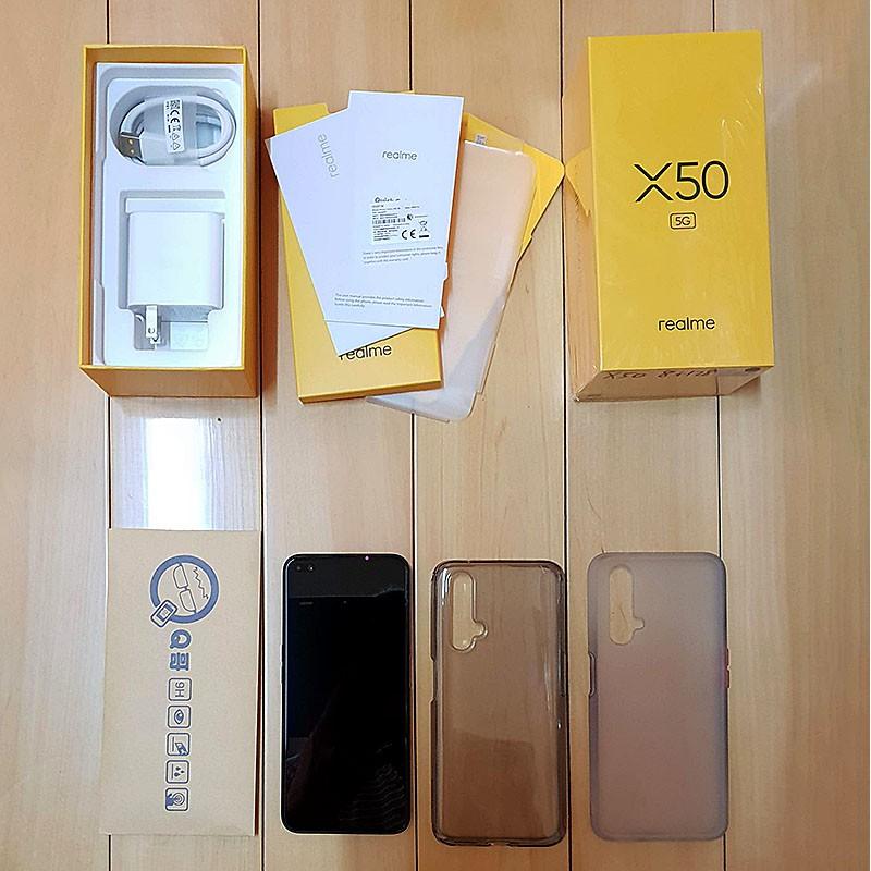 【二手保固中】台版Realme X50 8G/128G 6.57吋 5G雙鏡頭挖洞螢幕4800萬畫素四鏡頭拍照手機