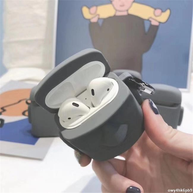 【新竹出貨】摩艾石像AirPods1/2保護殼 AirPods Pro耳機殼防刮防摔 復活島石像摩艾造型蘋果耳機保護套