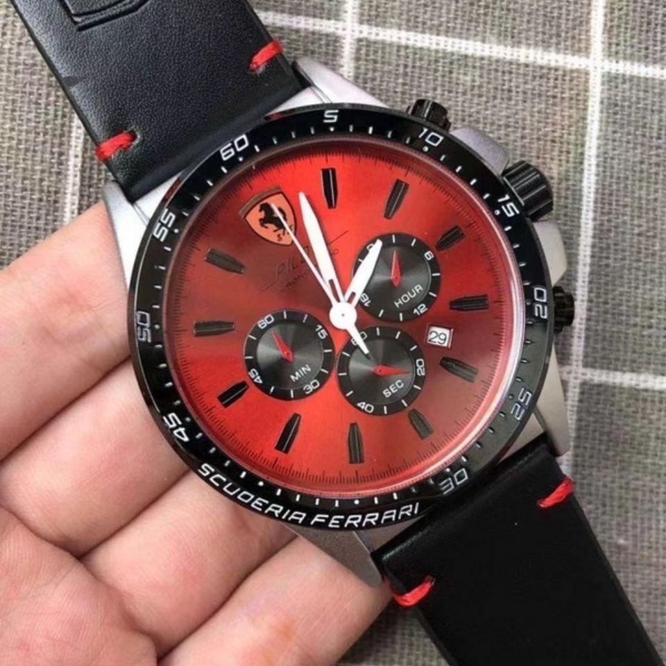 免運!新款現貨速賣通爆款微商熱賣法拉利皮帶手錶歐美熱賣。保時捷
