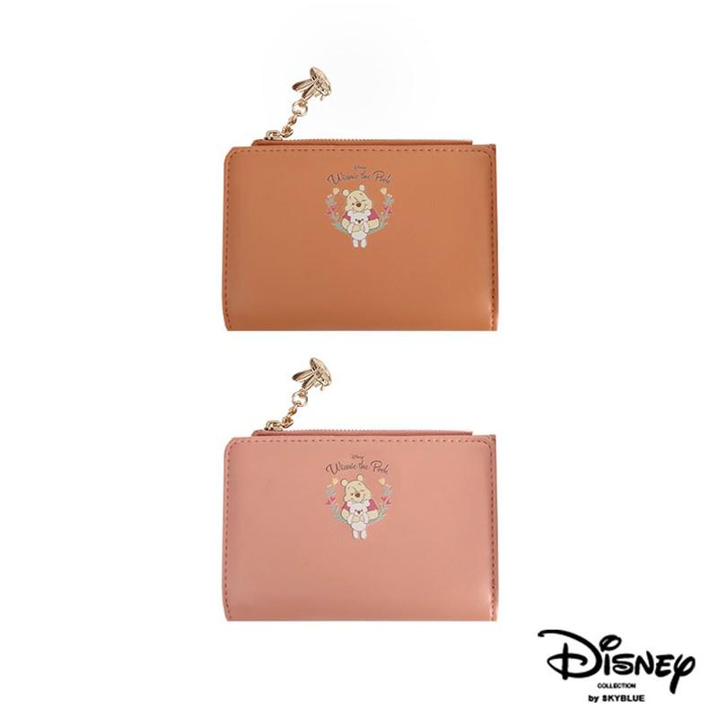 天藍小舖-迪士尼系列甜蜜擁抱小熊維尼款皮革中夾-共2色-A08081271