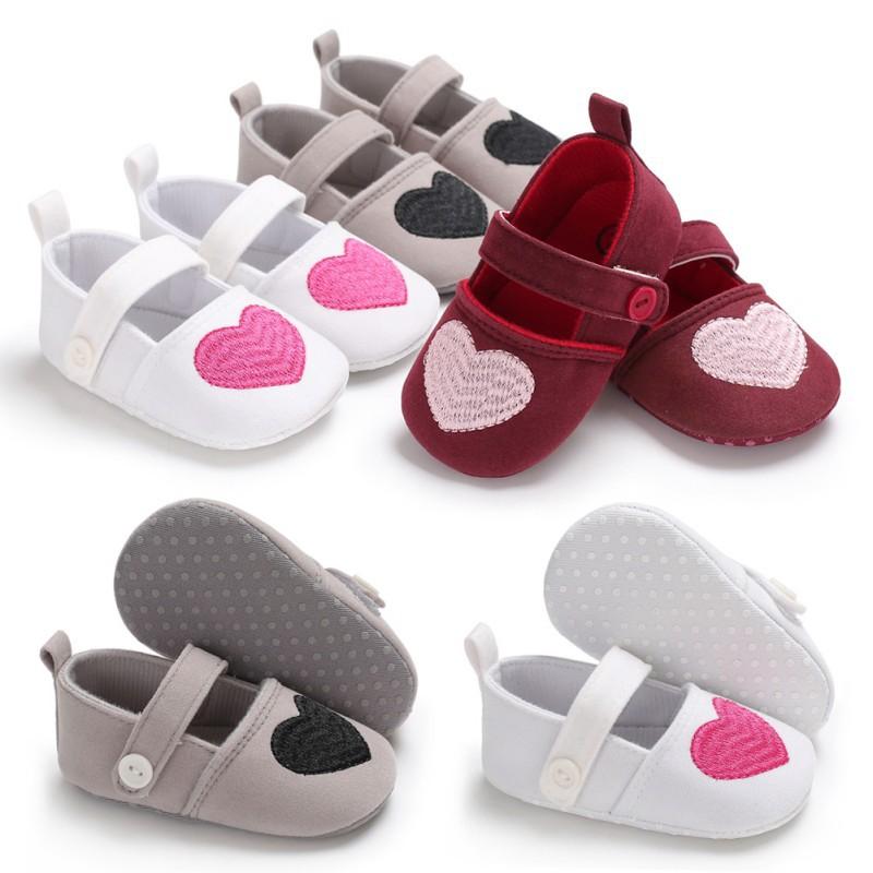 純色可愛愛心公主鞋寶寶軟底學步鞋【IU貝嬰屋】