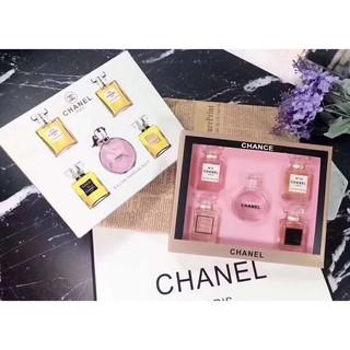 ChanelQ版香水 香奈兒邂逅香水五件套紙盒版禮盒裝 5號+19號+Coco少女+Coco女士+粉色邂逅少女5*5ml 台南市