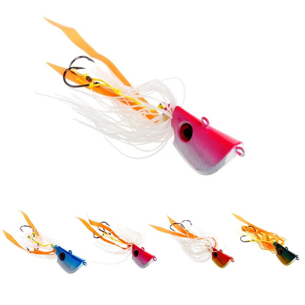 【洛陽牡丹】海釣魚餌炎月鐵板工具假餌45g、65g,85g鬍鬚佬章魚魷魚鉛頭鉤