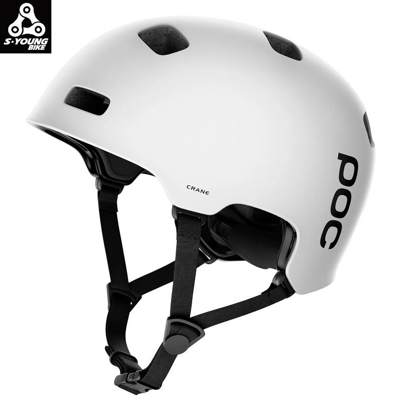 巡揚單車 -【POC】Crane|安全帽|XL-XXL|消光白色|雙重密度|EPS內襯|登山安全帽