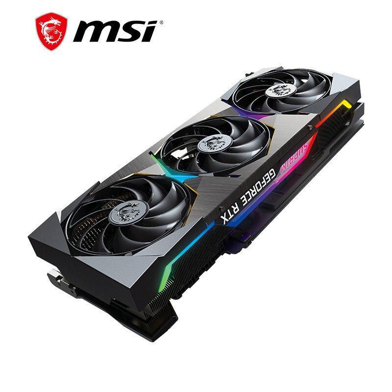 微星(MSI)超龍 GeForce RTX 3080 SUPRIM X 10G 超旗艦 電競遊戲設計智能學習電腦獨立顯卡