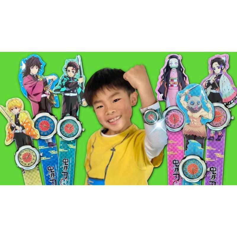 日本正版 鬼滅之刃 造型手錶 拍拍捲 拍拍錶(現貨)